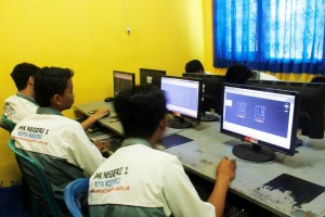 Desain Permodelan dan Informasi Bangunan SMKN 1 Kediri